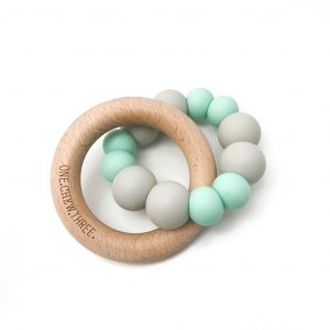 Duo Silicone & Beechwood Teether mint