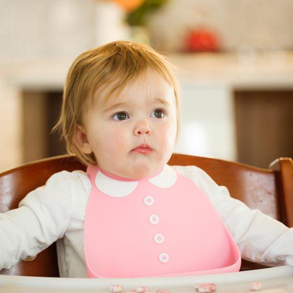 Make My Day Peter Pan Pink Silicon Baby Bib