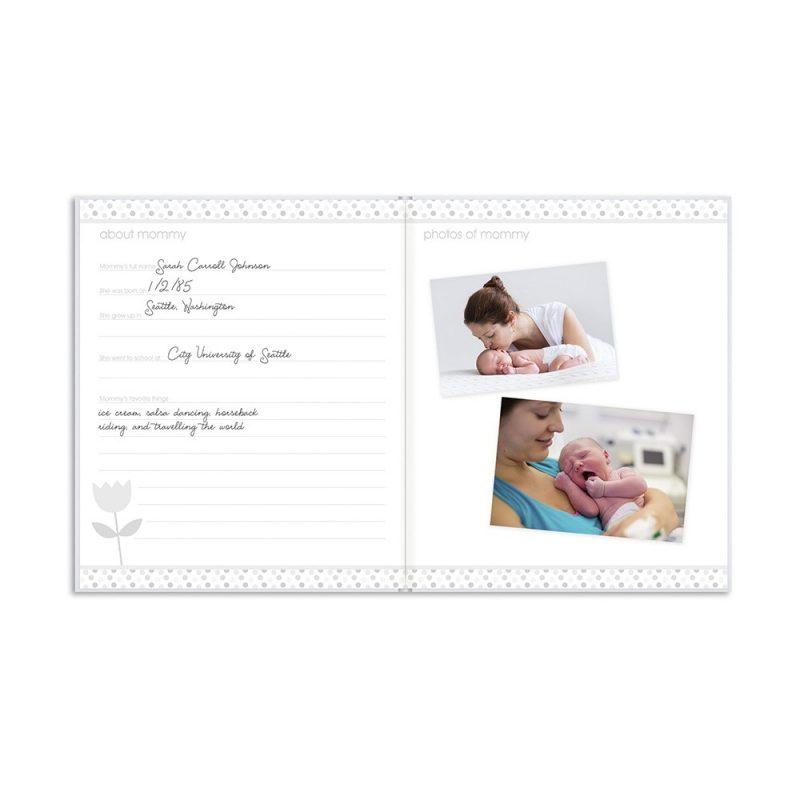 Pearhead Hello Baby Babybook - Black & Gold