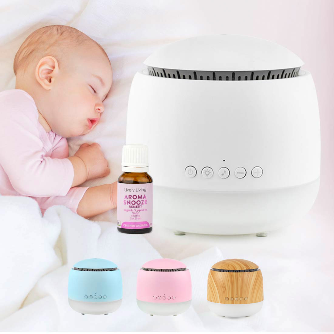 Aroma Snooze Sleep Aid Vaporiser With Snooze Essential Oil Kj Essentials For Baby